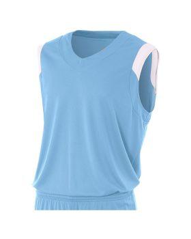A4 N2340 Adult Moisture Management V Neck Muscle Shirt
