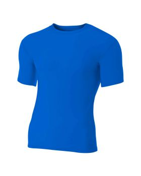 A4 N3130 Adult Polyester Spandex Short Sleeve Compression T-Shirt