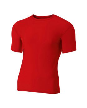 'A4 N3130 Adult Polyester Spandex Short Sleeve Compression T-Shirt'