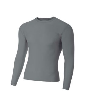 'A4 N3133 Adult Polyester Spandex Long Sleeve Compression T-Shirt'