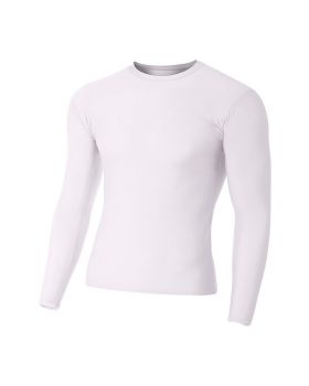 A4 N3133 Adult Polyester Spandex Long Sleeve Compression T-Shirt