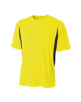 'A4 N3181 Men's Cooling Performance Color Blocked T-Shirt'