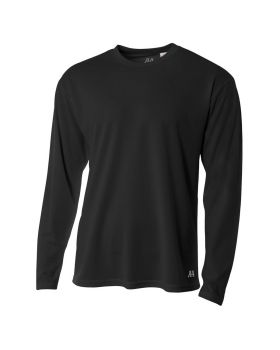 A4 N3253 Men's Birds-Eye Mesh Long Sleeve T-Shirt
