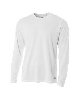 A4 N3253 Men's Birds-Eye Mesh Long Sleeve T-Shirt