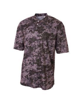A4 N3263 Camo 2-Button Henley Shirt