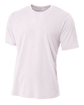 A4 N3264 Men's Shorts Sleeve Spun Poly T-Shirt