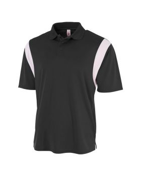 A4 N3266 Men's Color Blocked Polo Shirt w/ Knit Collar
