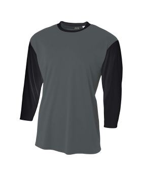 A4 N3294 Men's Quarter Sleeve Utility Shirt