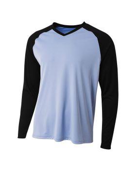A4 N3374 Men's Long Sleeve Strike Raglan T-Shirt