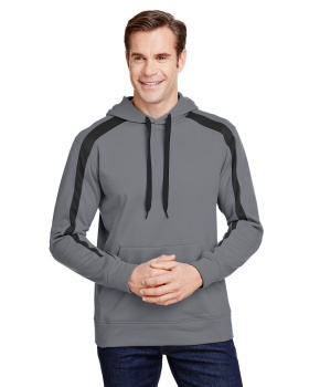 A4 N4004 Men's Spartan Tech-Fleece Color Block Hooded Sweatshirt
