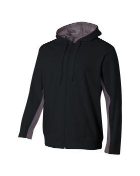 A4 N4251 Adult Tech Fleece Full Zip Hooded Sweatshirt
