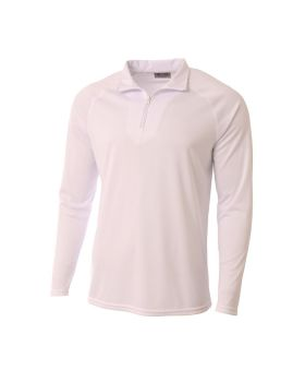 A4 N4268 Adult Daily Polyester 1/4 Zip