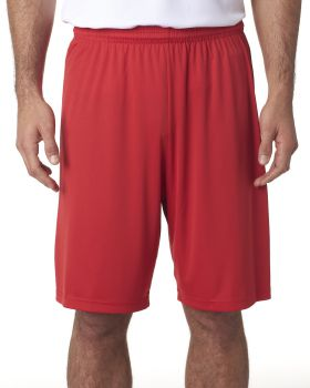 'A4 N5283 Men's Polyester Performance 9 Inch Inseam Short'