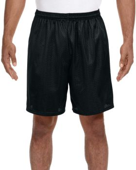 A4 N5293 Adult Seven Inch Inseam Polyester Mesh Short