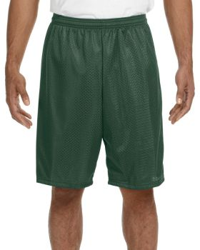 A4 N5296 Adult Nine Inch Inseam Polyester Mesh Short