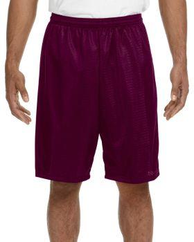 A4 N5296 Adult Nine Inch Inseam Polyester Mesh Short