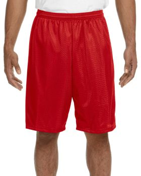 'A4 N5296 Adult Nine Inch Inseam Polyester Mesh Short'