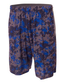 A4 N5322 Printed Camo Performance Short