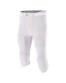 A4 N6181 Men's Spandex Flyless Nylon Football Pant