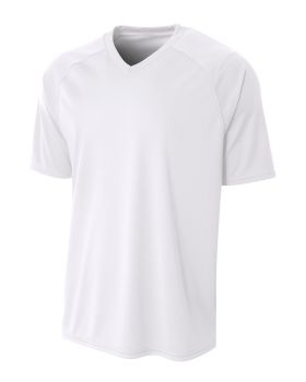 A4 NB3373 Youth Polyester V-Neck Strike Jersey with Contrast Sleeves