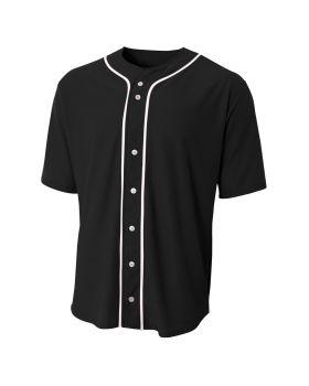 A4 NB4184 Youth Short Sleeve Full Button Baseball Jersey