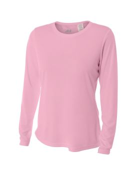 'A4 NW3002 Ladies Long Sleeve Cooling Performance Crew Shirt'