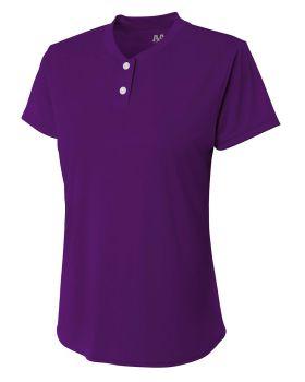 A4 NW3143 Ladies' Tek 2-Button Henley Shirt