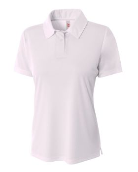 A4 NW3261 Ladies' Solid Interlock Polo