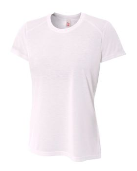 A4 NW3264 Ladies' Shorts Sleeve Spun Poly T-Shirt