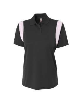 A4 NW3266 Ladies' Color Blocked Polo w/ Knit Collar