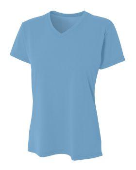 A4 NW3381 Ladies' Topflight Heather V-Neck T-Shirt