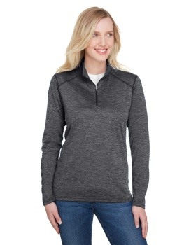 A4 NW4010 Ladies' Tonal Space-Dye Quarter-Zip