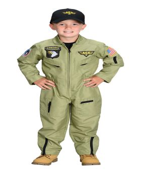 Aeromax costumes AR38LG Fighter Pilot Child Large 8-10