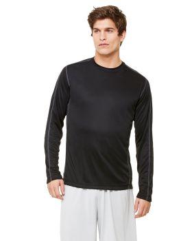 All Sport M3021 Long Sleeve Pieced Interlock T-Shirt