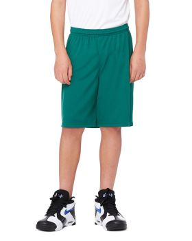 All Sport Y6707 Boy's For Team 365 Mesh 9 Short