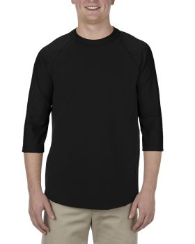 Alstyle AL1334 Adult Cotton 3/4 Raglan T-Shirt