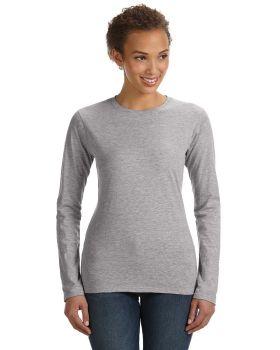 Anvil 374L Ladies' Junior Fit Combed Ringspun Cotton Long Sleeve T-Shirt