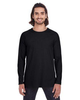 Anvil 5628 Adult Lightweight Long & Lean Raglan Long-Sleeve T-Shirt
