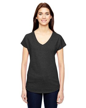 Anvil 6750VL Ladies Tri Blend V Neck T-Shirt