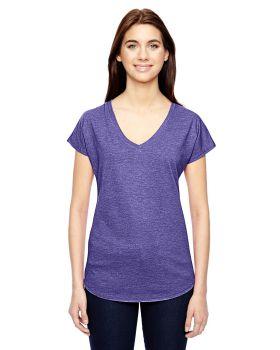 'Anvil 6750VL Ladies Tri Blend V Neck T-Shirt'
