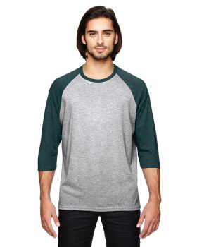 Anvil 6755 Adult Triblend 3/4-Sleeve Raglan T-Shirt