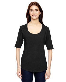 Anvil 6756L Ladies' Triblend Deep Scoop 1/2-Sleeve T-Shirt