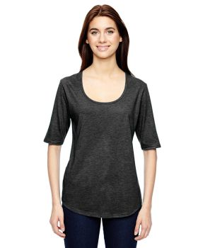 Anvil 6756L Ladies' Triblend Deep Scoop 1/2-Sleeve T-Shirt