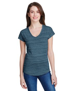 Anvil 675VIDL Ladies Streak V-Neck T-Shirt