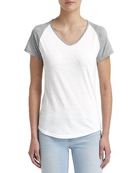 Anvil 6770VL Ladies' Tri-Blend Raglan T-Shirt