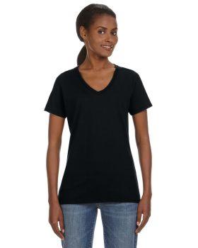 Anvil 88VL Ladies Ring Spun Cotton V-Neck T-Shirt