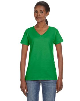 Anvil 88VL Ladies Ring Spun Cotton V-Neck T-Shirt