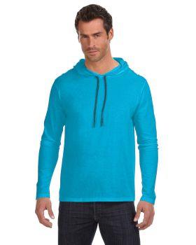 Anvil 987AN Adult Lightweight Long Sleeve Hooded T-Shirt
