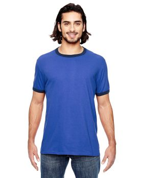 Anvil 988AN Adult Lightweight Ringer T-Shirt