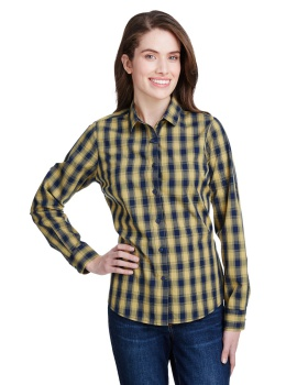 Artisan Collection by Reprime RP350 Ladies' Mulligan Check Long-Sleeve C ...